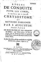 Règles de conduite pour les curés et méthode de Saint Augustin pour faire de bons prônes