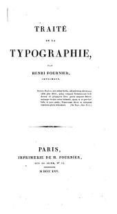 Traité de la typographie