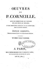 Pulchérie. Suréna, général des Parthes. Andromède. La toison d'or