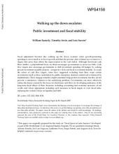 Walking up the down escalator : public investment and fiscal stability