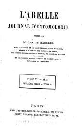 L'Abeille: journal d'entomologie, Volume12