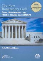 The New Bankruptcy Code PDF