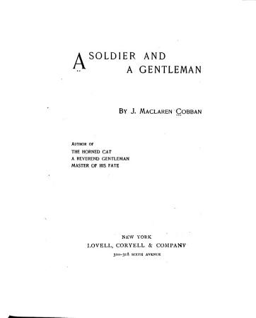 A Soldier and a Gentleman PDF