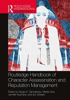 Routledge Handbook of Character Assassination and Reputation Management PDF