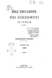 Dell'educazione dei sordomuti in Italia