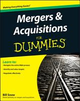 Mergers and Acquisitions For Dummies PDF