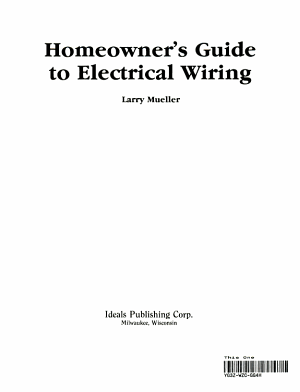 Homeowner's Guide to Electrical Wiring