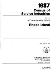 1987 Census of Service Industries: Geographic area series. 52 pts