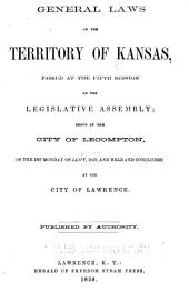 General Laws of the Territory of Kansas