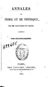 Annales de chimie et de physique: Volume65
