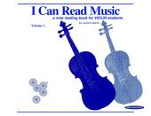 I Can Read Music, Volume 1: A note reading book for VIOLIN students