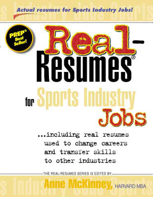 Real resumes for Sports Industry Jobs PDF