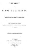The Story of Ninon de L Enclos PDF