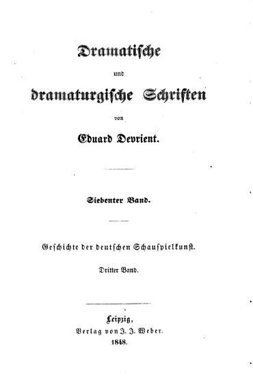 Geschichte der deutschen schauspielkunst  bd  Das nationaltheater  1848 PDF