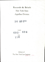 Records and Briefs New York State Appellate Division PDF