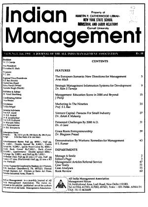 Indian Management PDF