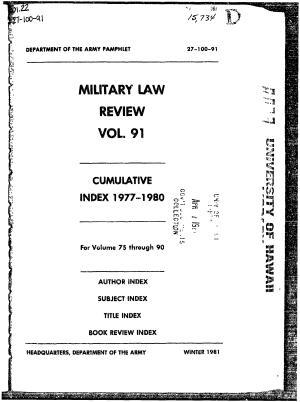 Military Review Vol  91 PDF