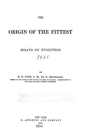 The Origin of the Fittest PDF