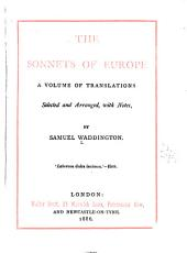 The Sonnets of Europe: A Volume of Translations