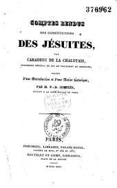 Comptes rendus des Constitutions des Jésuites