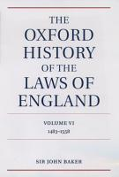 The Oxford History of the Laws of England Volume VI PDF