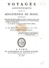 Voyages agronomiques dans la Sénatorerie de Dijon, etc