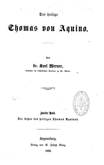 Der heilige Thomas von Aquino PDF