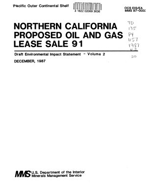 Northern California Proposed Oil and Gas Lease Sale 91 PDF