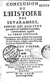 Histoire des Sevarambes... [par D. Vairasse. Seconde partie]