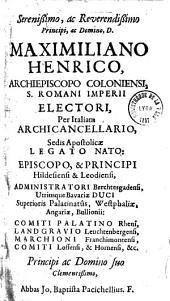 Abb. Jo. Bapt. Pacichelli,... Chiroliturgia, sive de Varia, ac multiplici manus administratione, lucubrationes juridico-philologicae