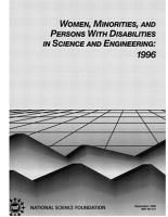 Women  Minorities  and Persons with Disabilities in Science and Engineering  1996 PDF