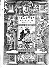 Statuta ciuitatis Foroliuij