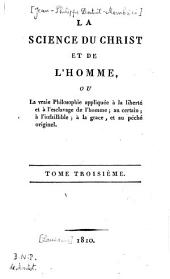 Science du Christ et de l'Homme
