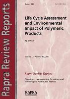 Life Cycle Assessment and Environmental Impact of Polymeric Products PDF