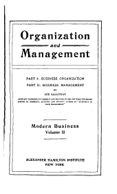 Modern Business: Organization and management