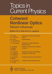Coherent Nonlinear Optics: Recent Advances