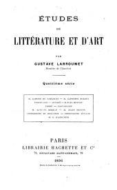 Études de littérature et d'art: Volume4
