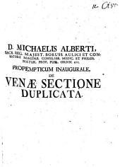 Propempt. inaug. dee venae sectione duplicita