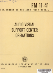 Audio-visual Support Center Operations