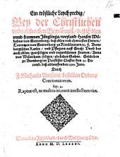 Ein tröstliche Leychpredig, bey der ... Begräbnuß, deß Edlen ... Hansen Wilhelms von Guttenberg ... zu Bamberg im Parfüsser Closter, den 23. Decemb. ... 1590 (etc.)
