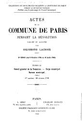 Actes de la Commune de Paris pendant la Révolution: Volume2