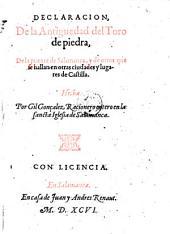Declaracion de la antiguedad del Toro de piedra de la puente de Salamanca (etc.)