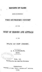 Reports of cases argued and determined in the Supreme Court, and the Court of Errors and Appeals of New Jersey: Volume 24