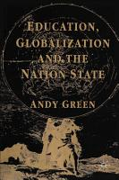 Education  Globalization and the Nation State PDF