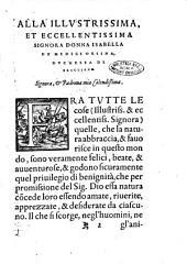 La felicità del serenissimo Cosimo Medici granduca di Toscana. Di Mario Matasilani bolognese ..