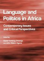 Language and Politics in Africa PDF