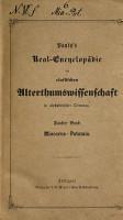 Pauly s Real Encyclop  die der classischen Altertumswissenschaft in alphabetischer Ordnung PDF