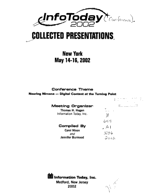 InfoToday 2002 Collected Presentations  New York  May 14 16  2002 PDF