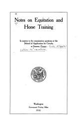 Notes on Equitation and Horse Training PDF