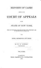 Reports of Cases Decided in the Court of Appeals of the State of New York: Volume 84